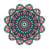 艺术、成人和儿童彩图的, zendoodle坛场 手拉的圆的zentangle可以是半新创造性设计 免版税库存图片