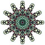艺术、成人和儿童彩图的, zendoodle坛场 手拉的圆的zentangle可以是半新创造性设计 库存图片
