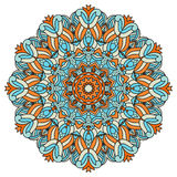 艺术、成人和儿童彩图的, zendoodle坛场 手拉的圆的zentangle可以是半新创造性设计 图库摄影