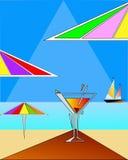 艺术三角海滩的要素 库存图片