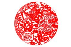 艺术中国人剪切纸张 免版税库存照片