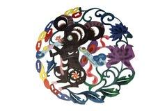 艺术中国布料剪切纸张 皇族释放例证