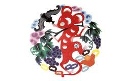 艺术中国布料剪切纸张 向量例证