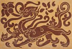 艺术中国龙样式 库存图片