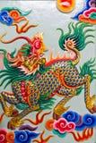 艺术中国kilin雕塑样式 库存照片