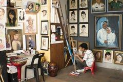 艺术中央吉隆坡马来西亚人市场 库存图片