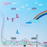 艺术五颜六色的包括的街道画街道墙壁 免版税库存照片