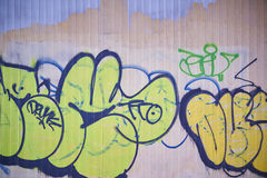 艺术五颜六色的包括的街道画街道墙壁 图库摄影