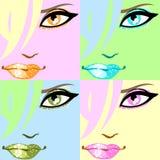 艺术五颜六色的流行音乐海报 库存照片
