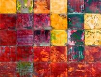 艺术五颜六色的金属部分 免版税库存照片
