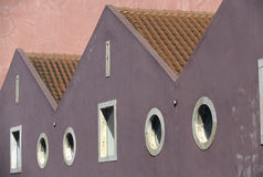 艺术五颜六色的门面罚款 免版税图库摄影
