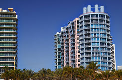 艺术五颜六色的deco旅馆迈阿密 免版税库存图片