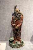 艺术作品由陶瓷雕塑制成在广东、夫斯汉和石湾 库存照片