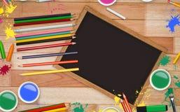 艺术供应框架的综合图象  免版税库存照片
