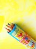 艺术儿童铅笔 免版税库存照片