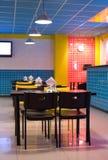 艺术内部流行音乐餐馆样式 免版税库存图片