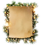 艺术冬天圣诞节框架 库存图片