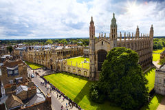 艺术剑桥大学和College Chapel国王 免版税图库摄影
