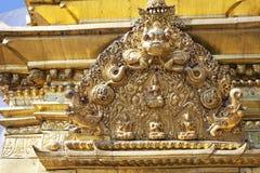 艺术加德满都尼泊尔宗教swayambunath 库存照片