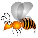 艺术动画片夹子飞行黄蜂 免版税库存图片