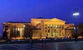 艺术博物馆在英雄正方形,布达佩斯,匈牙利, 11月的 免版税库存图片