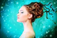 艺术发型 图库摄影