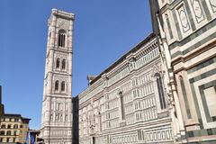 艺术史和文化在佛罗伦丁的教会-佛罗伦萨- Ital里 库存照片