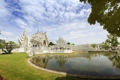 艺术吸引力美好的chiang文化精美khun rai rong任务寺庙泰国wat白色 免版税图库摄影