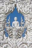 艺术吸引力美好的chiang文化精美khun rai rong任务寺庙泰国wat白色 图库摄影