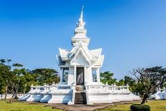 艺术吸引力美好的chiang文化精美khun rai rong任务寺庙泰国wat白色 免版税库存图片