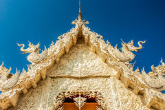 艺术吸引力美好的chiang文化精美khun rai rong任务寺庙泰国wat白色 免版税库存照片