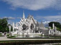 艺术吸引力美好的chiang文化精美khun rai rong任务寺庙泰国wat白色 库存照片