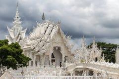 艺术吸引力美好的chiang文化精美khun rai rong任务寺庙泰国wat白色 库存图片