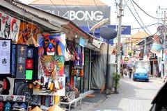 艺术和工艺品购物在库塔,巴厘岛 库存图片