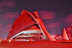 艺术和科学中心在巴伦西亚 免版税库存图片