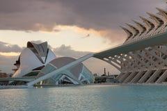 艺术和科学中心巴伦西亚西班牙 免版税库存照片