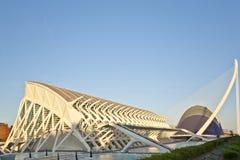 艺术和科学城市在巴伦西亚。 免版税库存照片