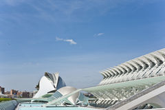 艺术和科学城市在巴伦西亚。 免版税图库摄影