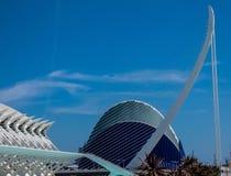 艺术和科学城市在巴伦西亚,西班牙,欧洲 免版税库存照片