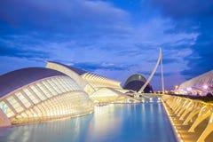 艺术和科学城市在巴伦西亚,西班牙 免版税图库摄影