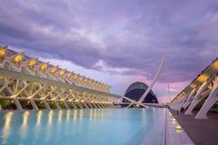 艺术和科学城市在巴伦西亚,西班牙 库存照片