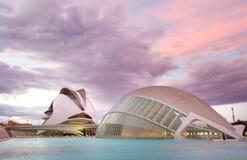 艺术和科学城市在巴伦西亚,西班牙 免版税库存图片