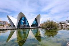 艺术和科学城市2017年4月04日在巴伦西亚,温泉 免版税图库摄影