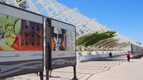 艺术和科学,巴伦西亚城市 免版税库存图片