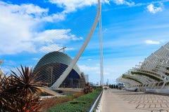 艺术和科学,巴伦西亚,西班牙城市 库存照片