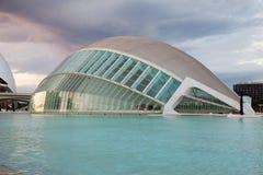 艺术和科学巴伦西亚西班牙城市 免版税库存图片