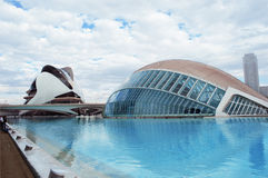 艺术和科学巴伦西亚,西班牙Hemisferic市2015年 免版税库存照片