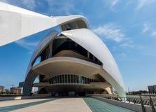 艺术和科学Hemisferic城市在巴伦西亚,西班牙,欧洲 库存图片