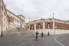 艺术和建筑学在罗马,意大利 免版税库存图片