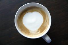 艺术咖啡馆latte 库存图片